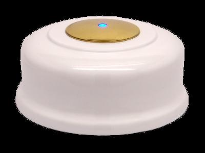 картинка Кнопка вызова (белая, под золото) от магазина
