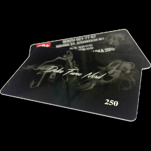 Печать пластиковых карт с печатным номером