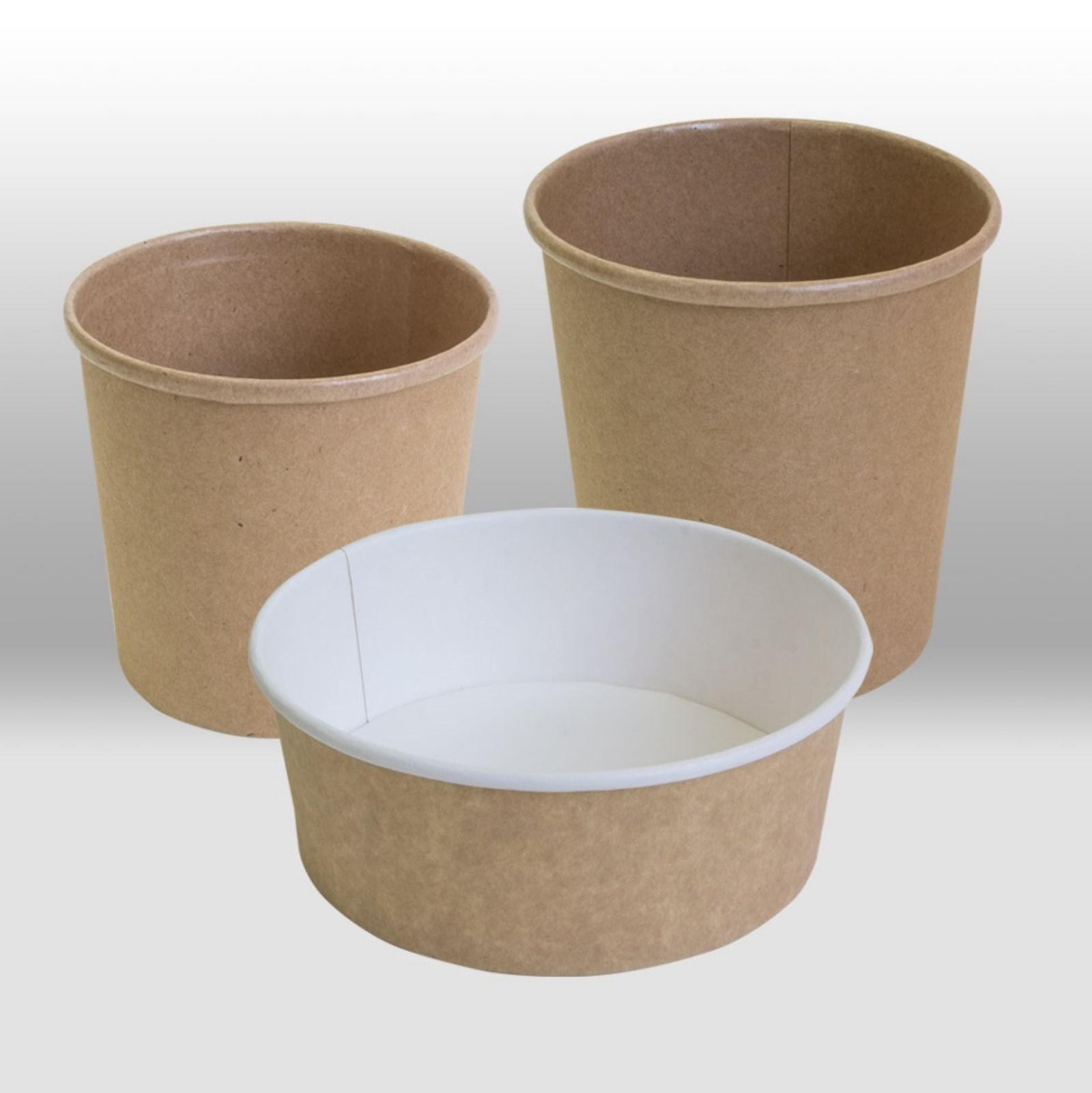 Paper containers Kraft by Papperskopp