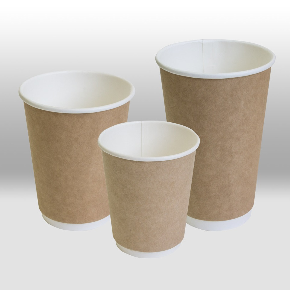 Kraft Double Wall paper cup for hot Beverages ThermoCup by Papperskopp