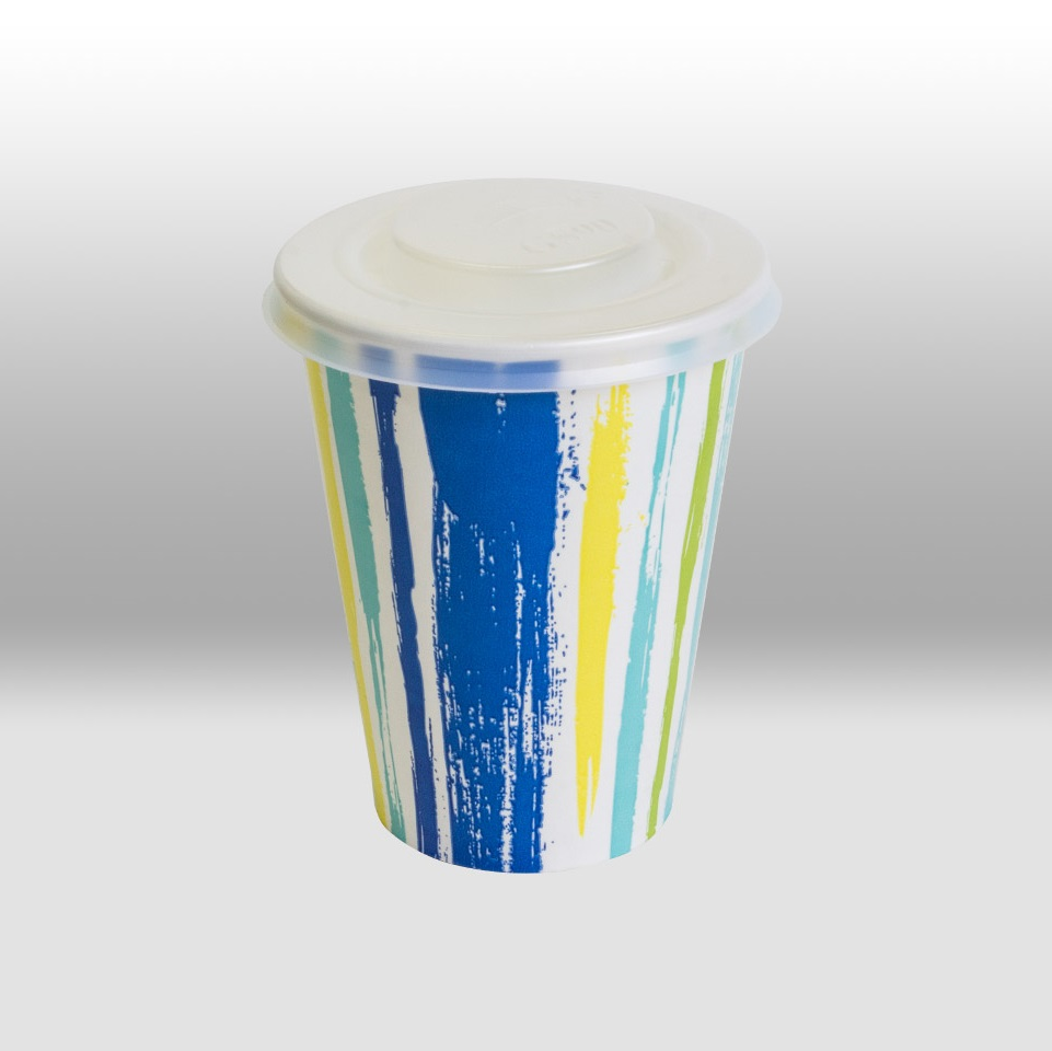 Lids for paper cups for cold beverages by Papperskopp