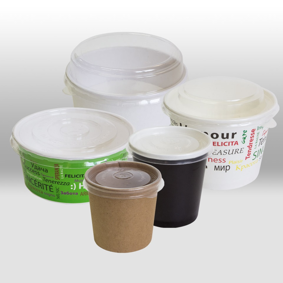 Lids for paper containers by Papperskopp