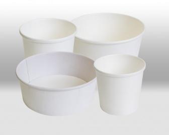 Белые бумажные контейнеры Паперскоп