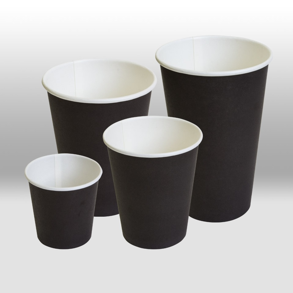 Black paper cups  Papperskopp