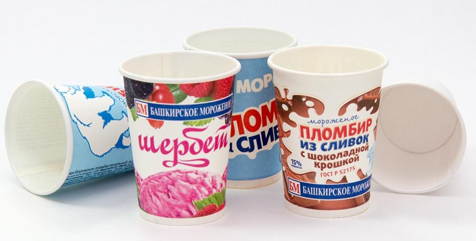 Бумажные стаканы для упаковки мороженого Papperskopp