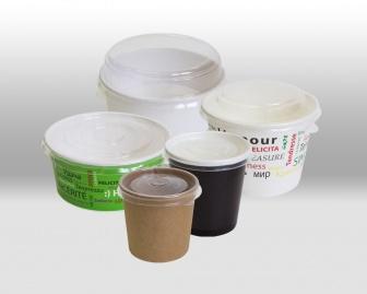 Пластиковые крышки для бумажных контейнеров Papperskopp