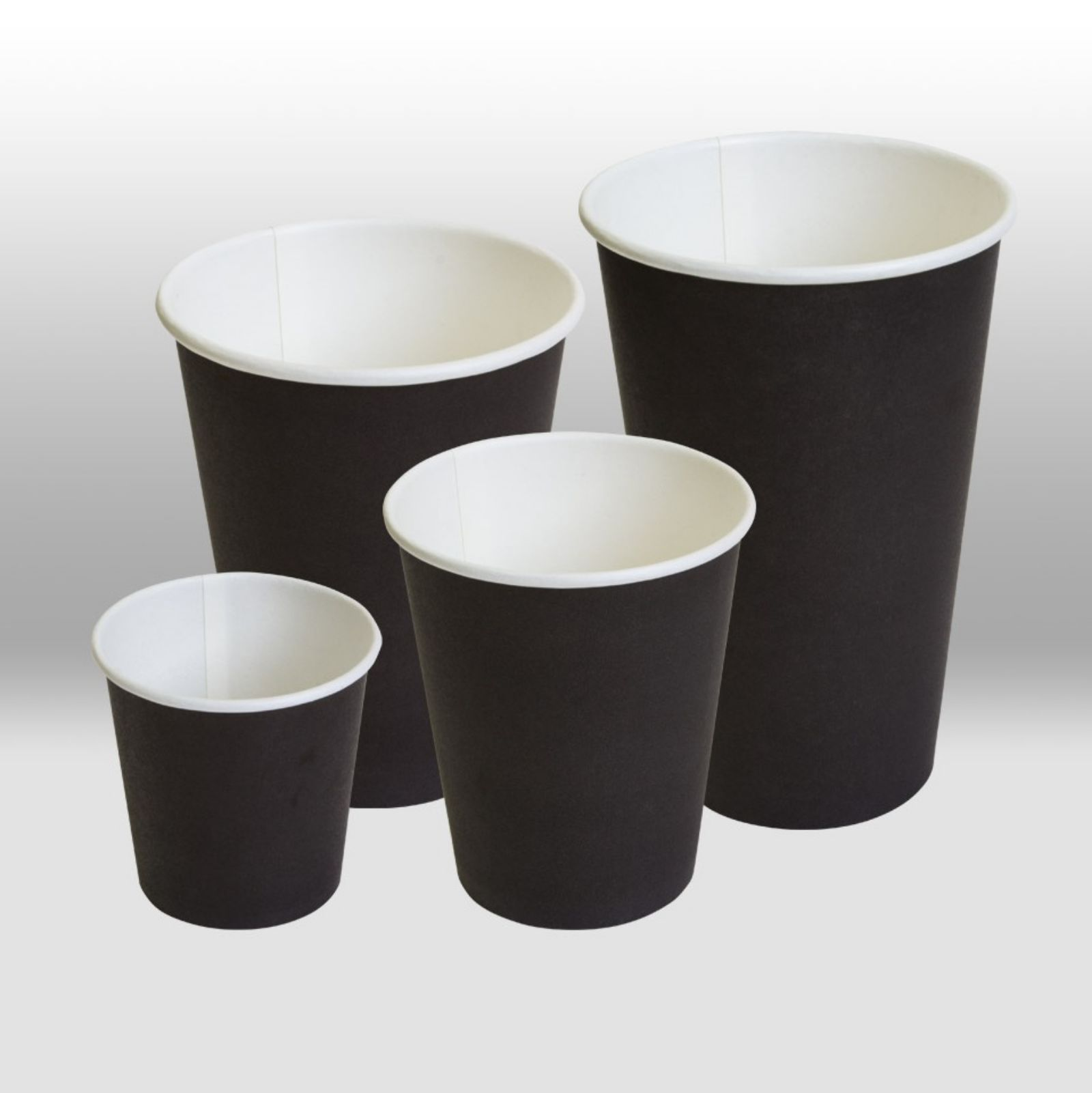 Paper cups Black by Papperskopp