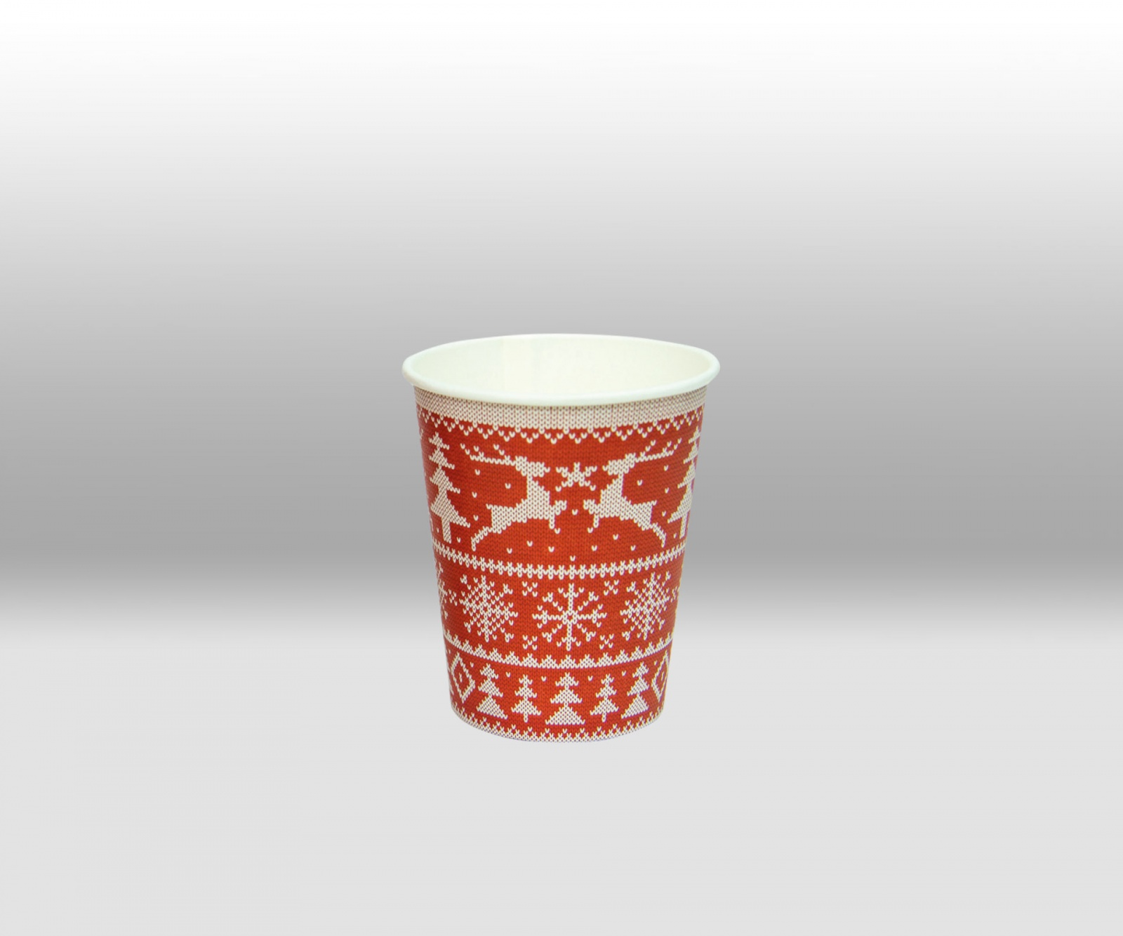 White Double Wall paper cup for hot Beverages ThermoCup by Papperskopp