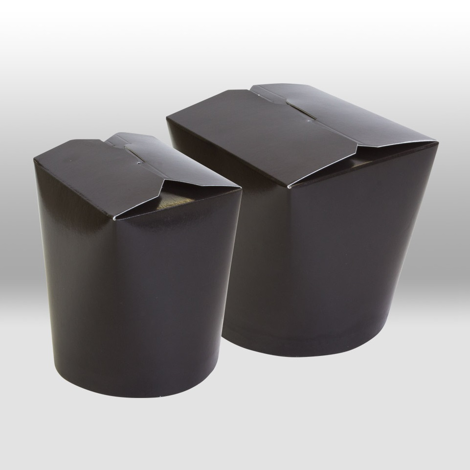 Black Paper China Boxes by Papperskopp