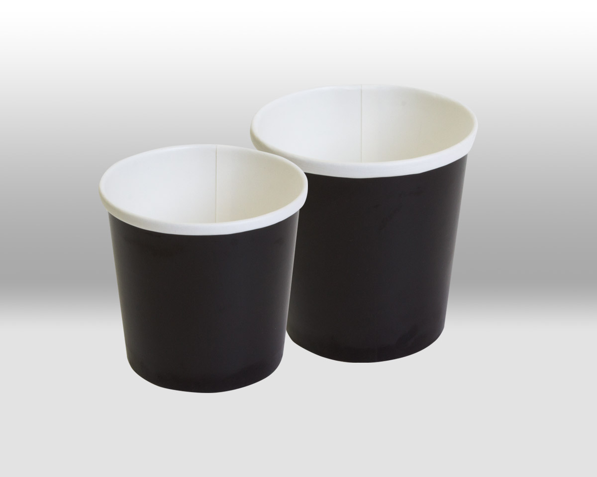Black Paper Containers by Papperskopp