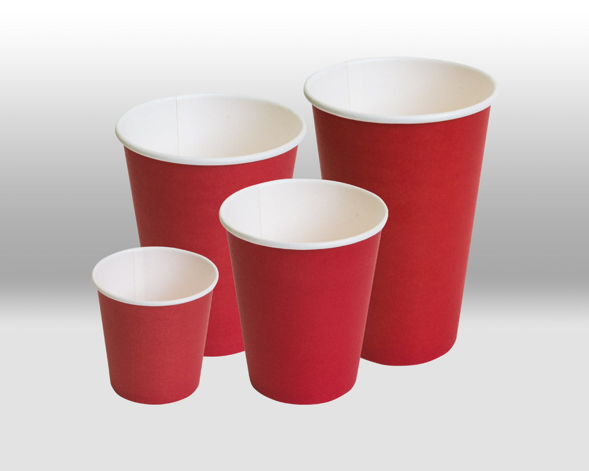 Red paper cups  Papperskopp
