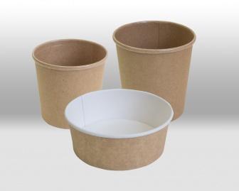 Бумажные контейнеры крафт Papperskopp