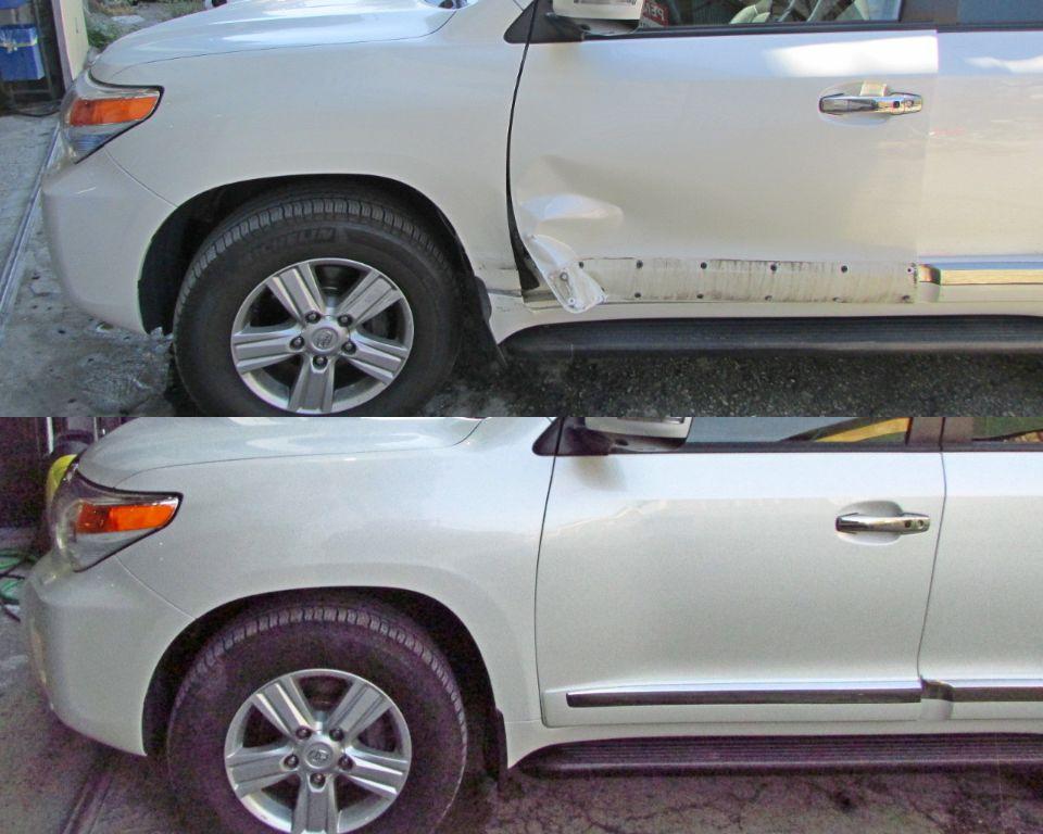 Toyota Lancruiser 200 Кузовной ремонт и покраска двери и крыла