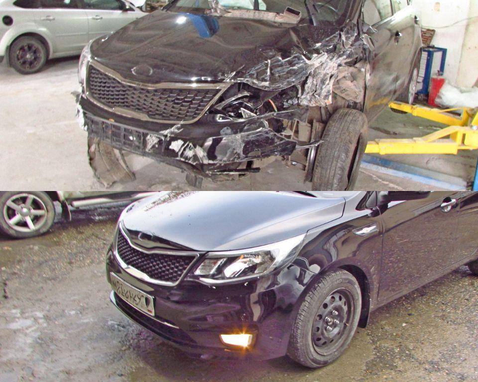 KIA Ceed Кузовной ремонт и покраска после сильного удара