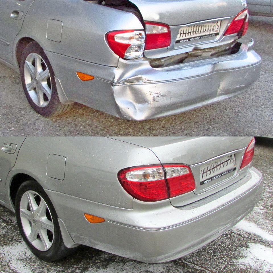 Nissan Maxima Кузовной ремонт после ДТП (удар в заднюю часть)