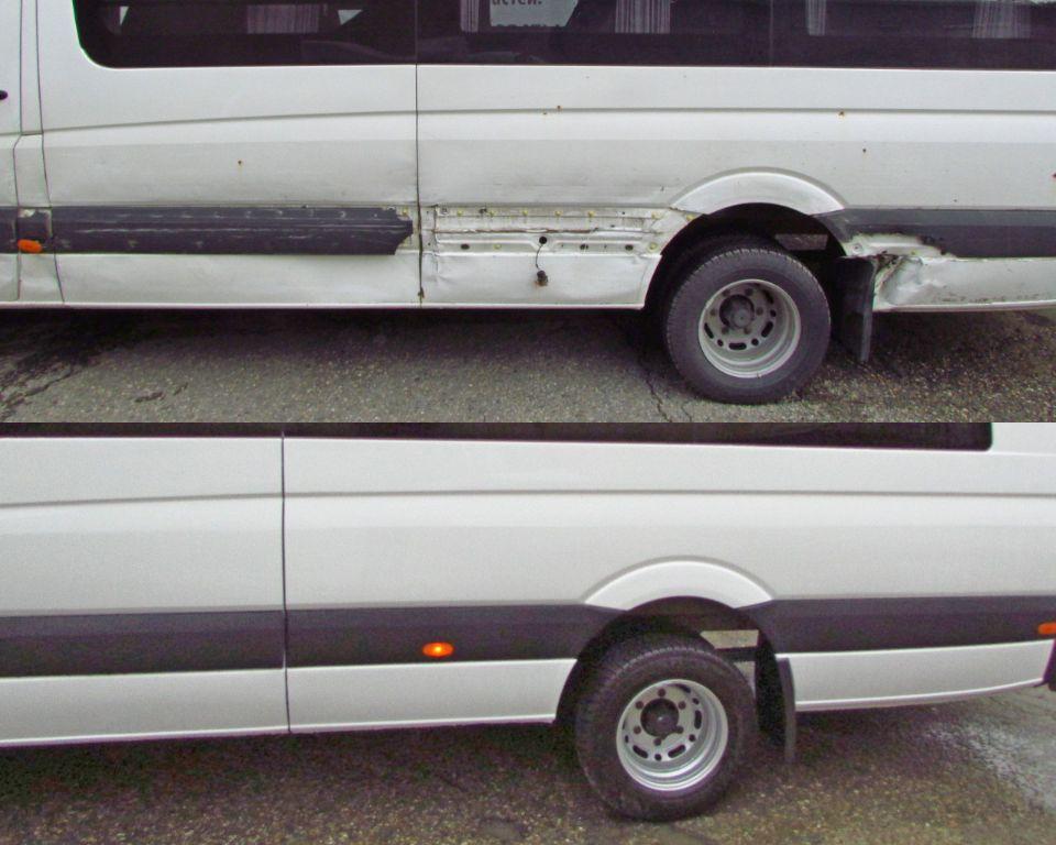 Mercedes Sprinter Кузовной ремонт и окраска боковины левой.