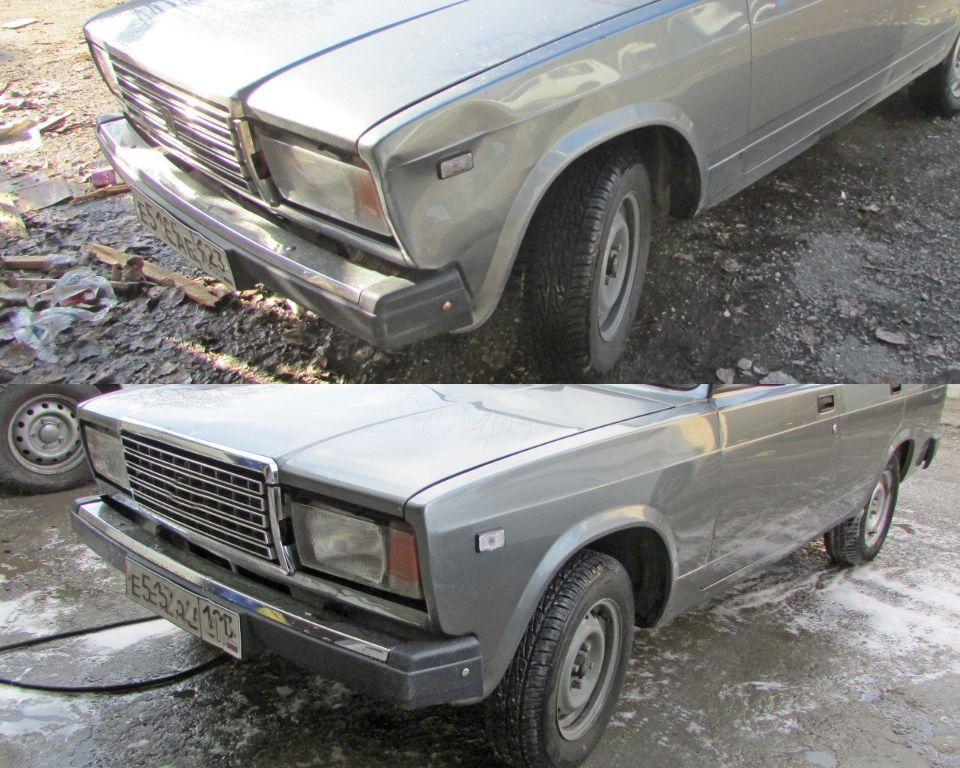 ВАЗ 2107 Кузовной ремонт и покраска крыла переднего левого