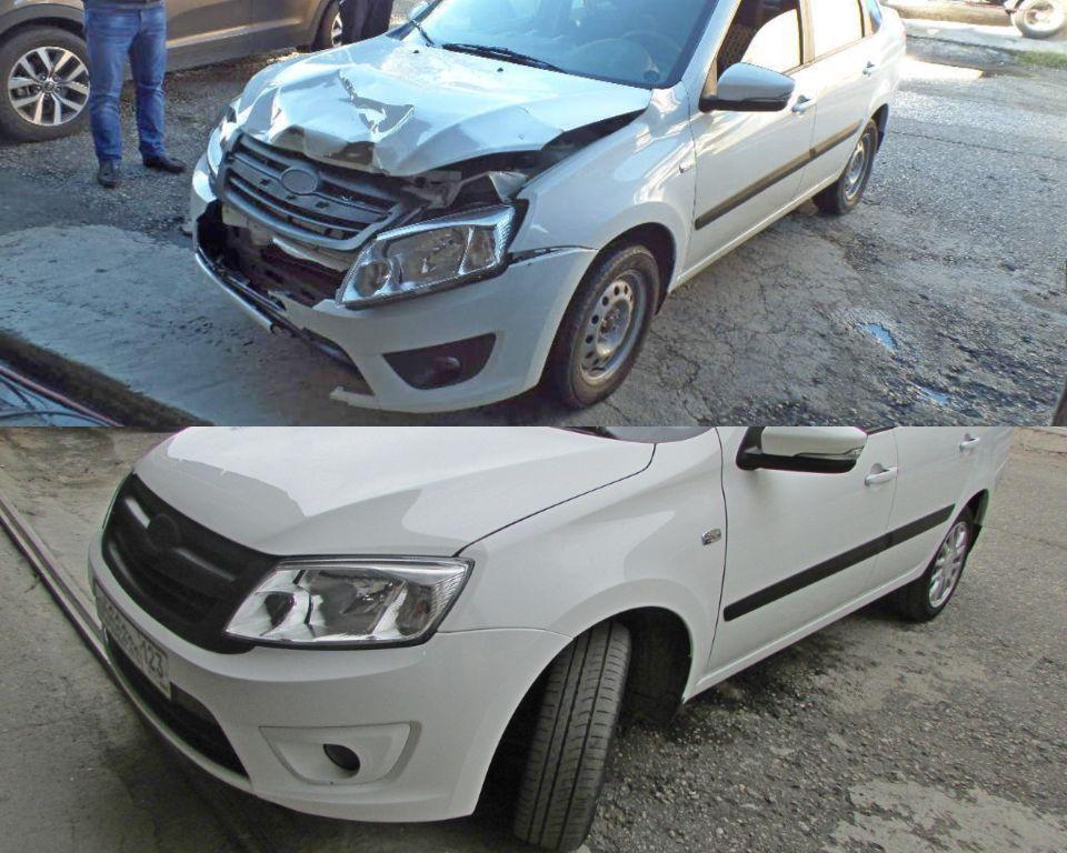 LADA Granta Кузовной ремонт и покраска после ДТП
