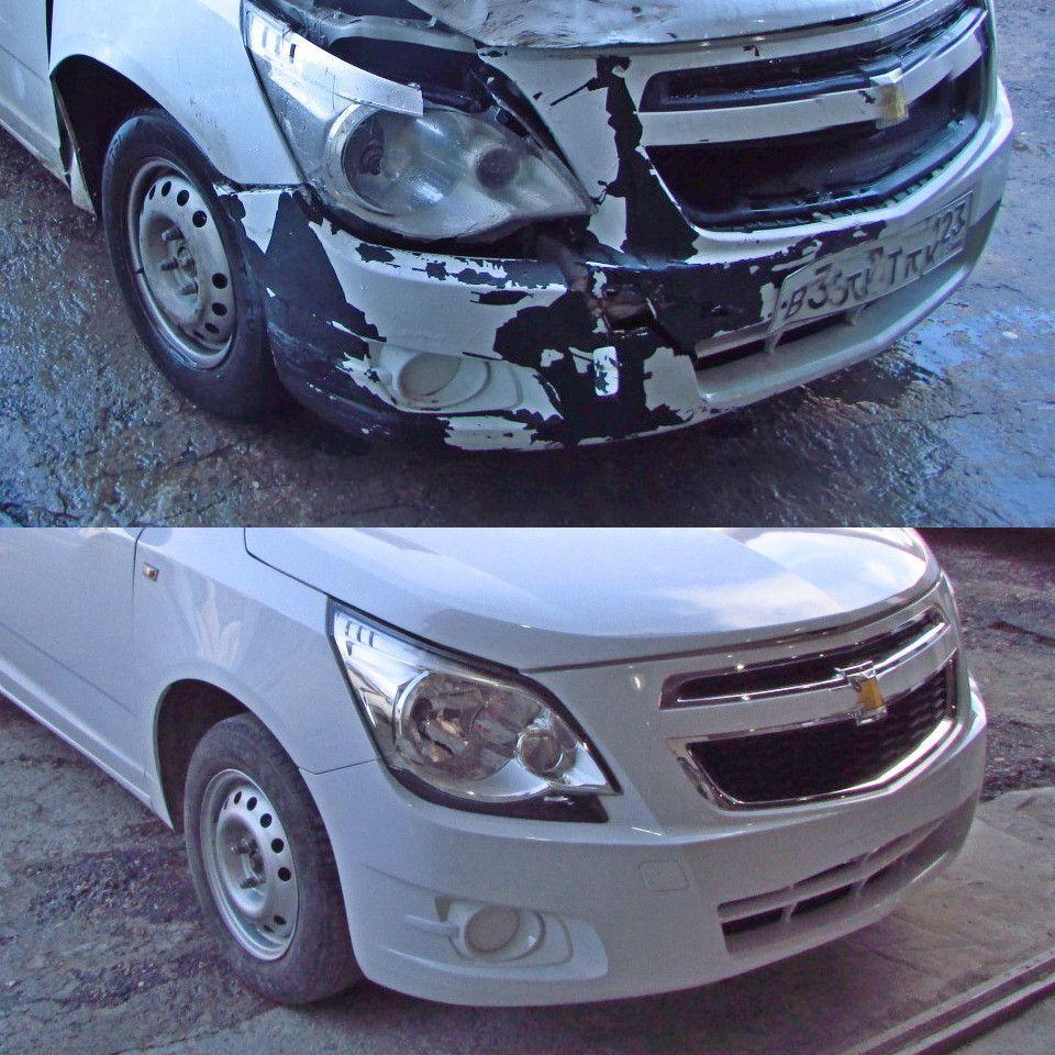 KIA Ceed Кузовной ремонт после удара в переднюю правую часть