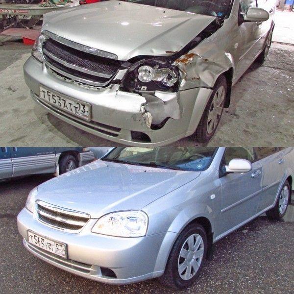 кузовной ремонт и рихтовка передней части авто