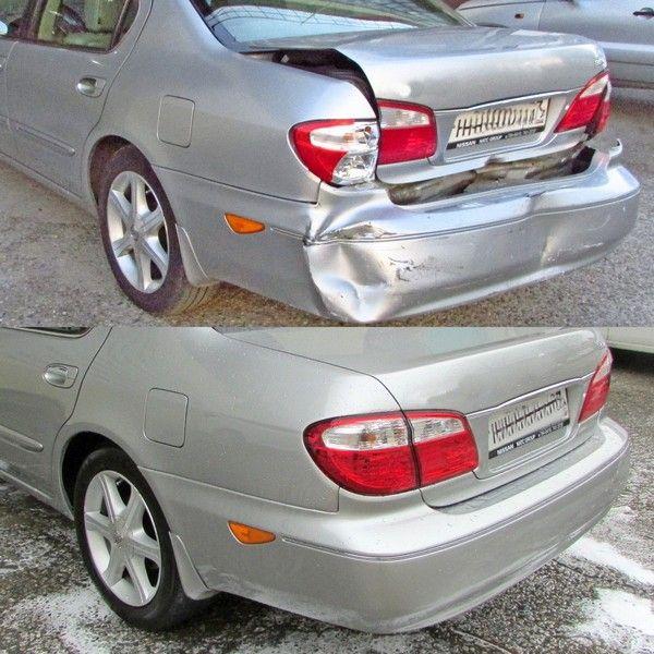 замена и ремонт бампера заднего и крышки багажника