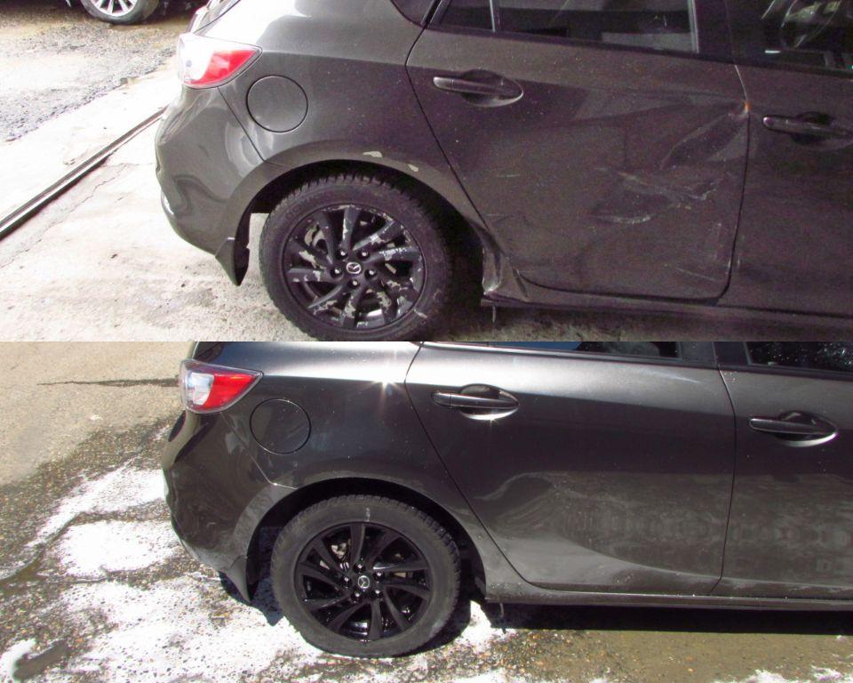Mazda 3 Кузовной ремонт и покраска двери задней и крыла