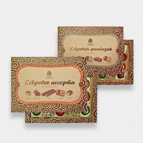 Набор конфет Сибирский кедр. Кедровое ассорти