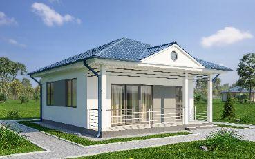 Проект дома из ЛСТК. KARKAS.KG