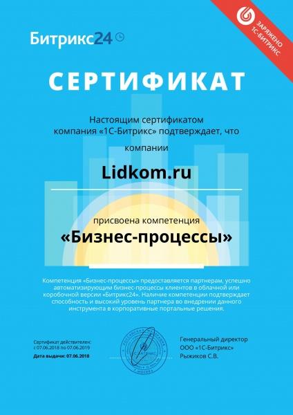 компетенция бизнес-процессы Лидком.ру
