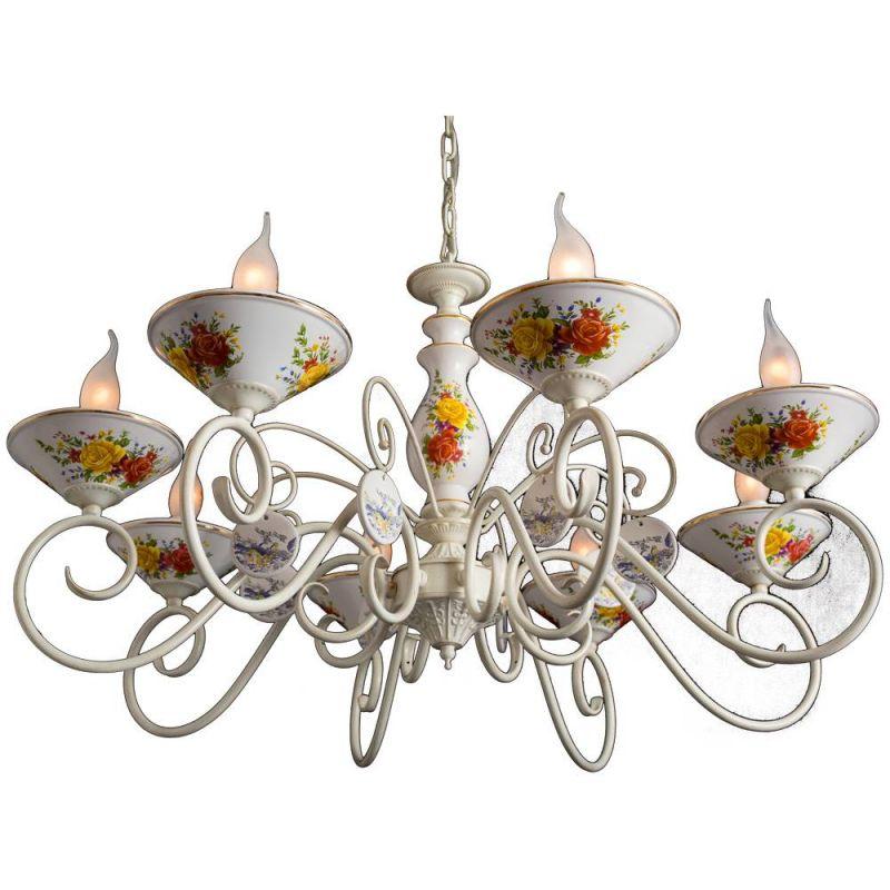 картинка Подвесная люстра Arte Lamp Fiorato A2061LM-8WG от магазина Одежда+