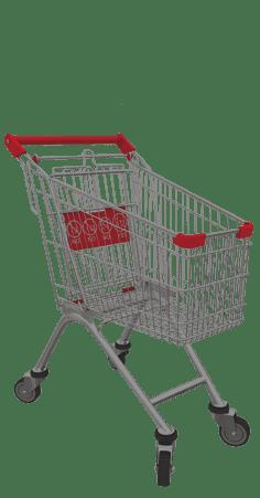 металлические тележки и корзины
