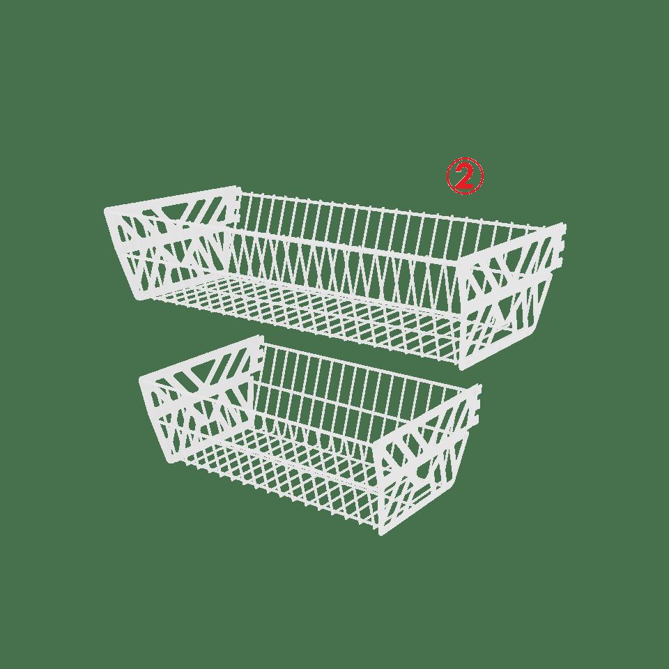 купить корзины для стеллажей
