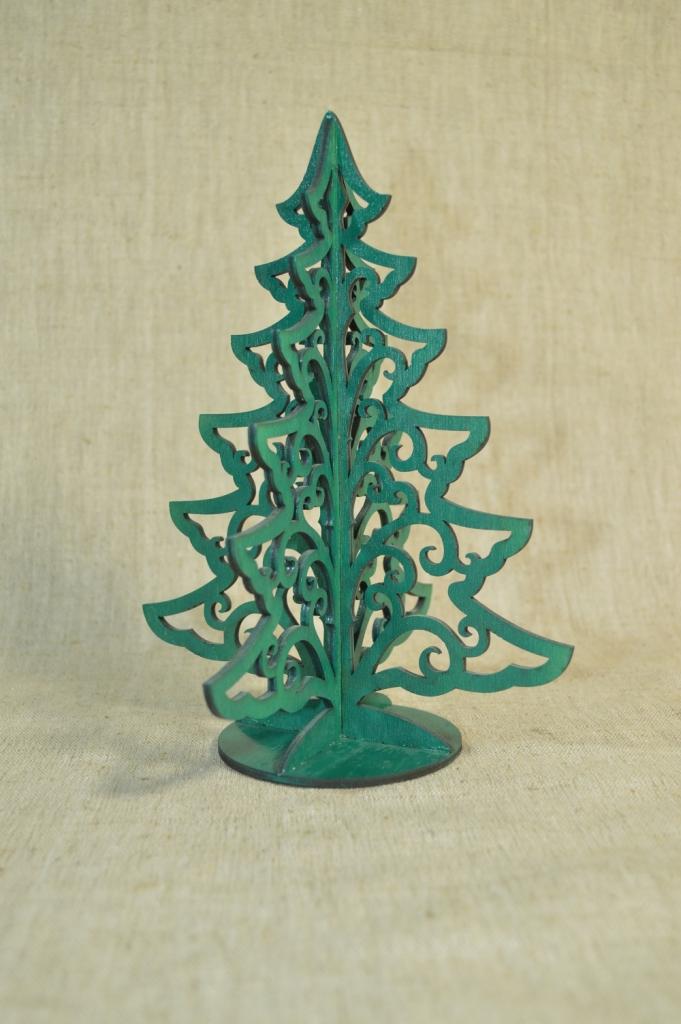 """картинка Новогодний сувенир """"Резная ёлка"""", арт.Ф00108 - подарки и декор из дерева - подереву.рф"""