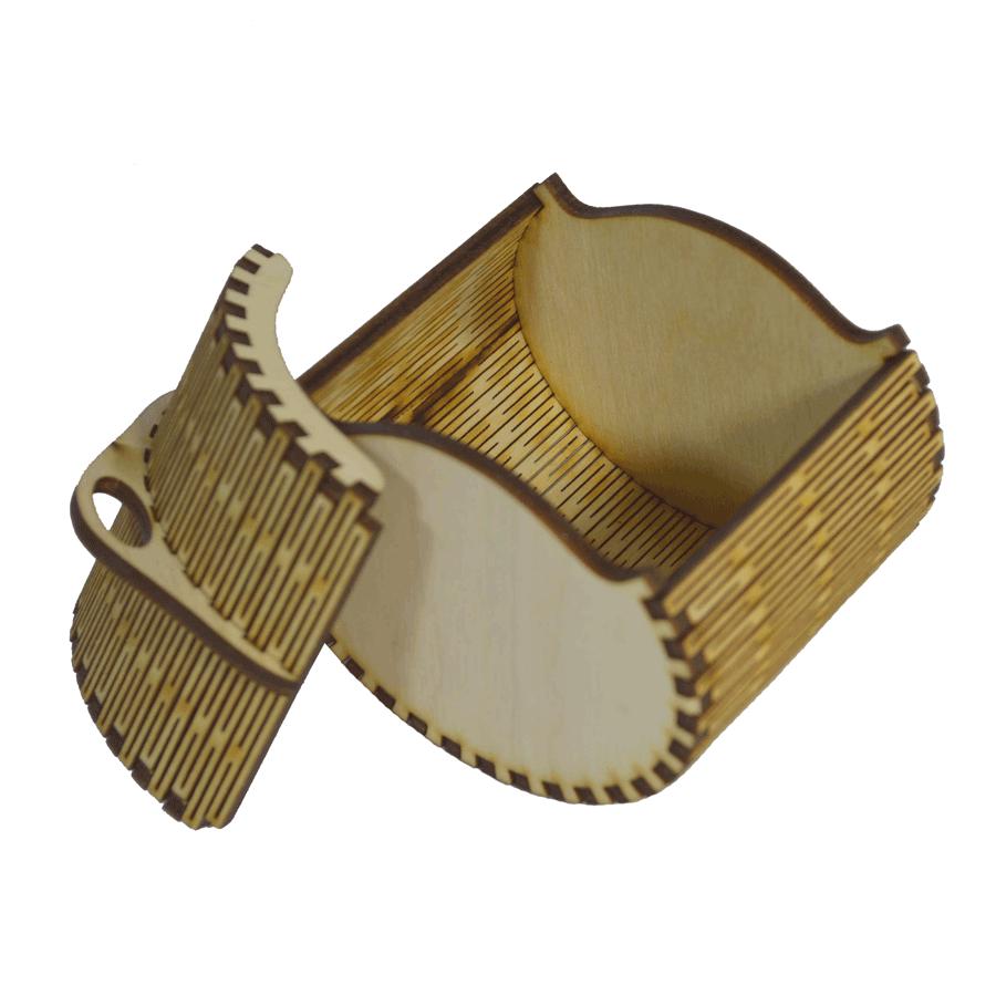 картинка Шкатулка овальная 80x80x80 мм, арт. Ф00021 - подарки и декор из дерева - подереву.рф