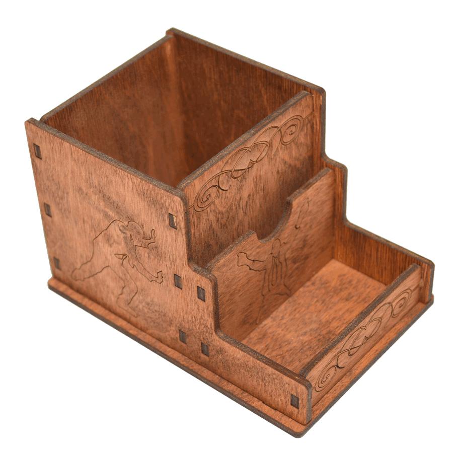 картинка Органайзер настольный, арт. Ф00027 - подарки и декор из дерева - подереву.рф