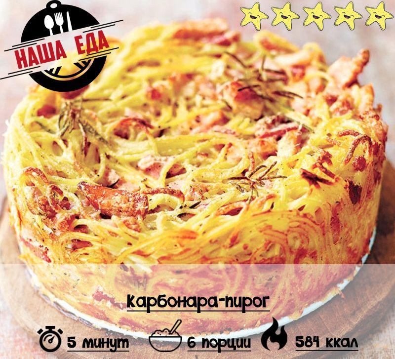 карбонара пирог