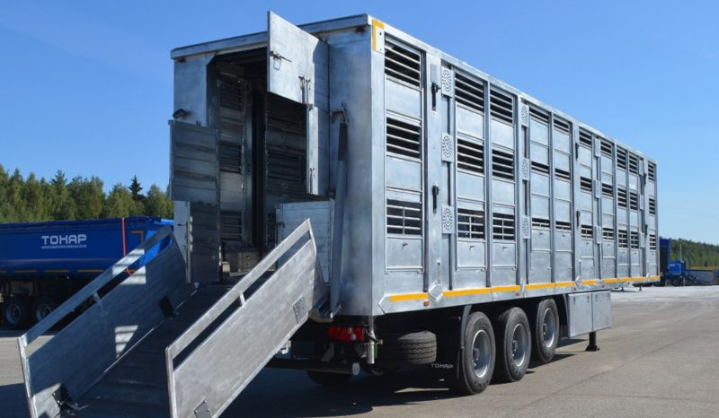 купить полуприцеп для перевозки свиней ТОНАР-9827
