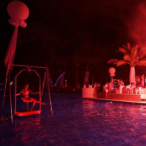 Вечерние пати у бассейна. Rixos Sungate (Кемер)