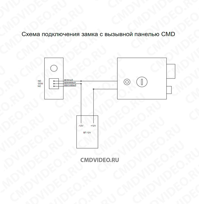 картинка CMD DEL2369 Электромеханический замок