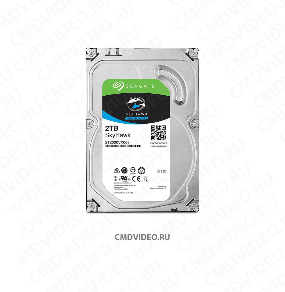 "картинка Жесткий диск SEAGATE Skyhawk ST2000VX008, 2Тб, HDD, SATA III, 3.5"""