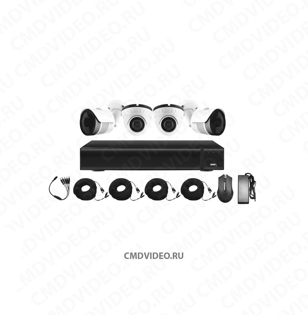 картинка CMD-HD-4-KIT STANDART Комплект видеонаблюдения 4 камеры