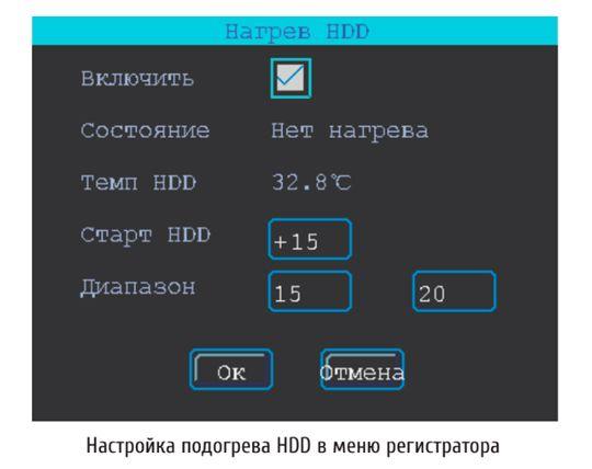 ПОДОГРЕВ HDD