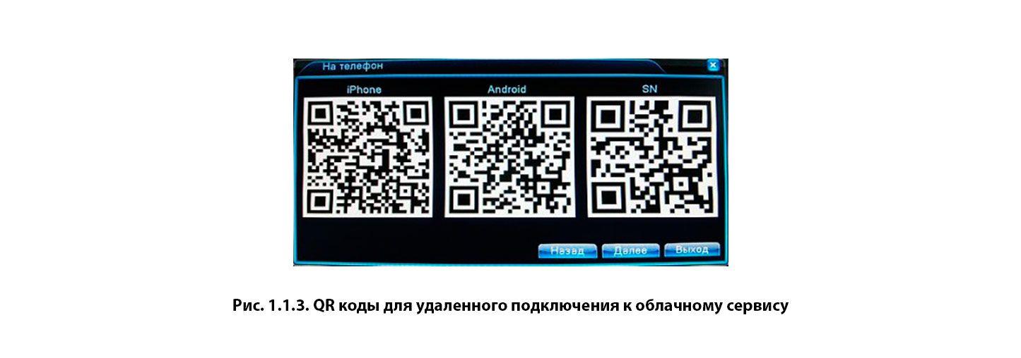 QR коды для удаленного подключения к облачному сервису