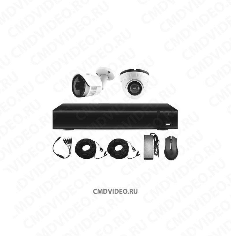 Комплект видеонаблюдения для дачи на 2 камеры