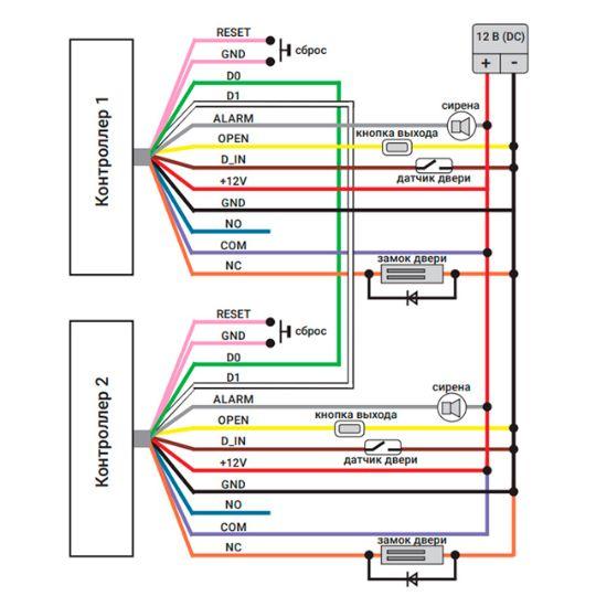 Схема подключения контроллера №2