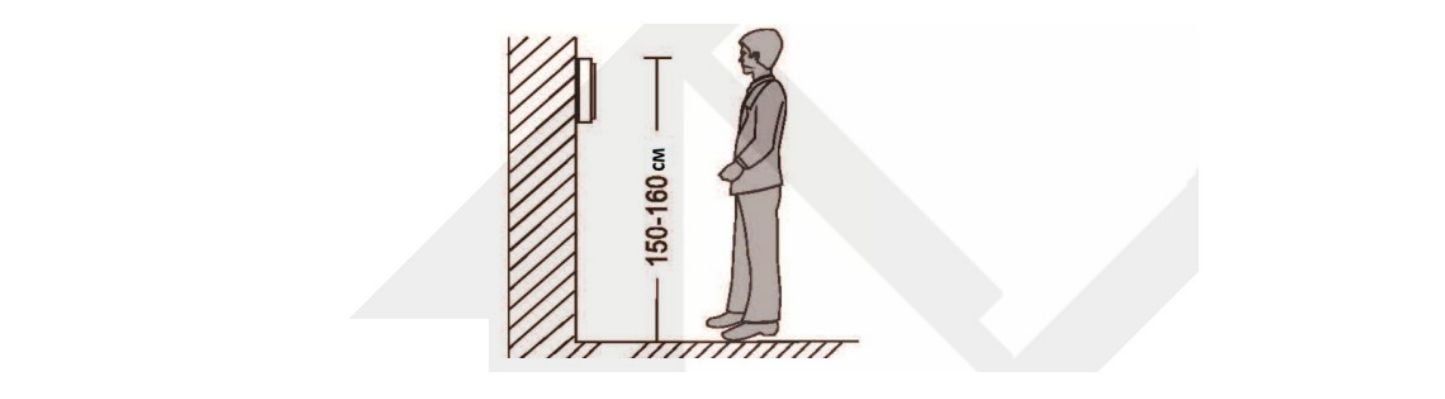 Высота установки видеодомофона