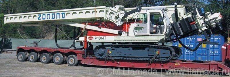 Перевозка буровой установки llamada p-160tt