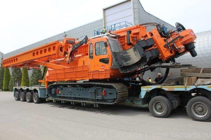 Перевозка буровой установки llamada p-160