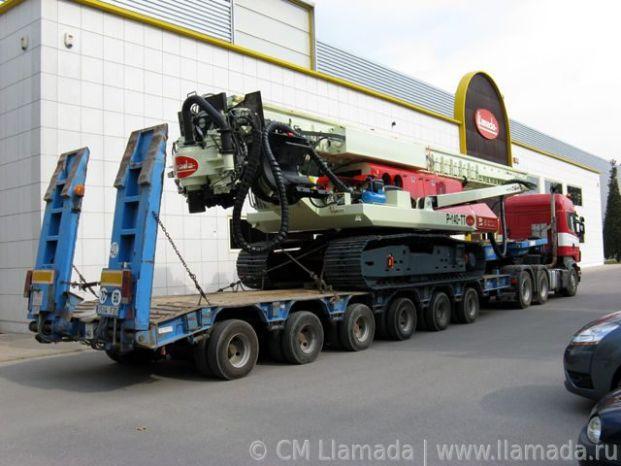 Перевозка буровой установки cfa llamada p-140tt