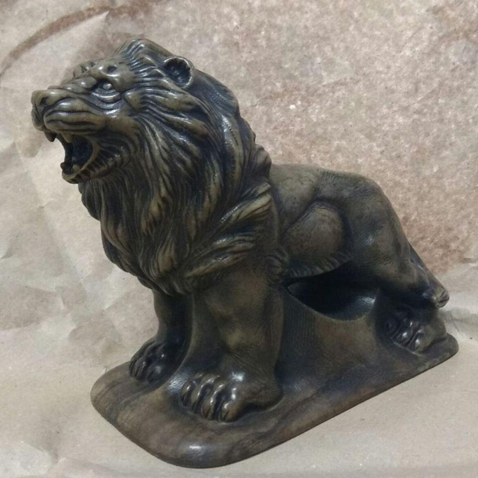 Скульптура Лев камень кальцит
